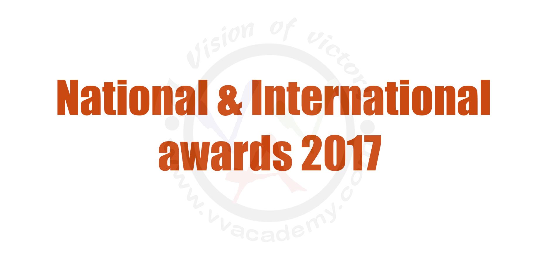 National & International awards 2017