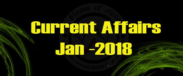 (English) Current Affairs 2018 – January