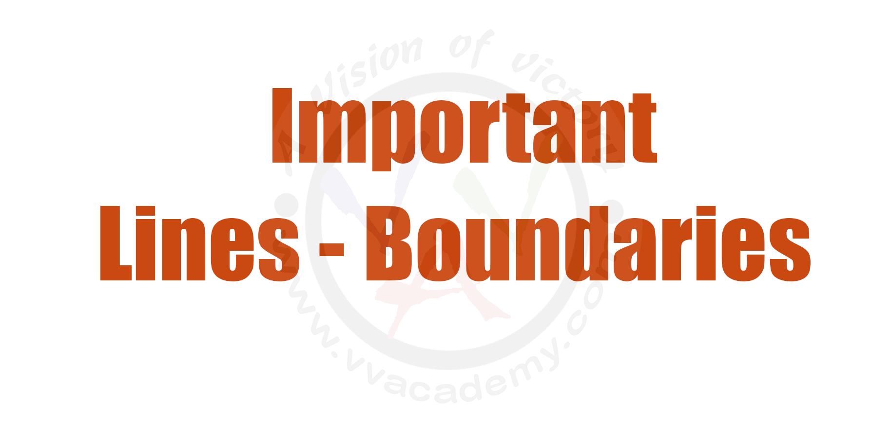 Important Lines – Boundaries