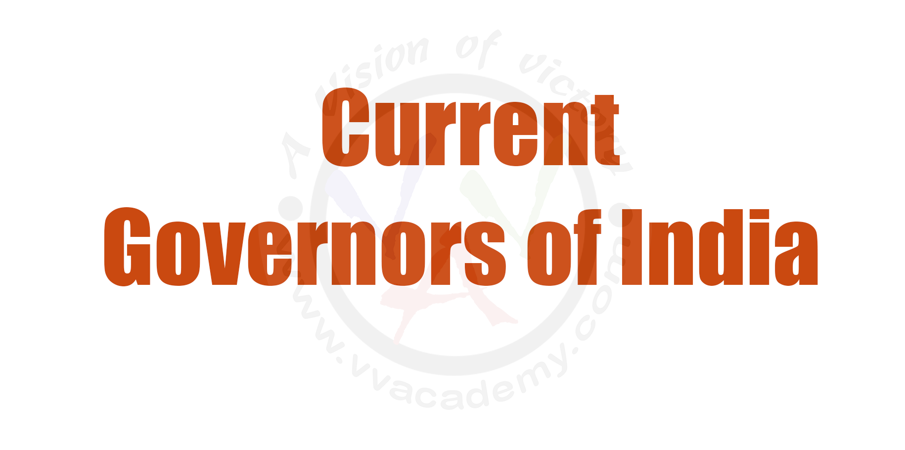 Current Governors in India