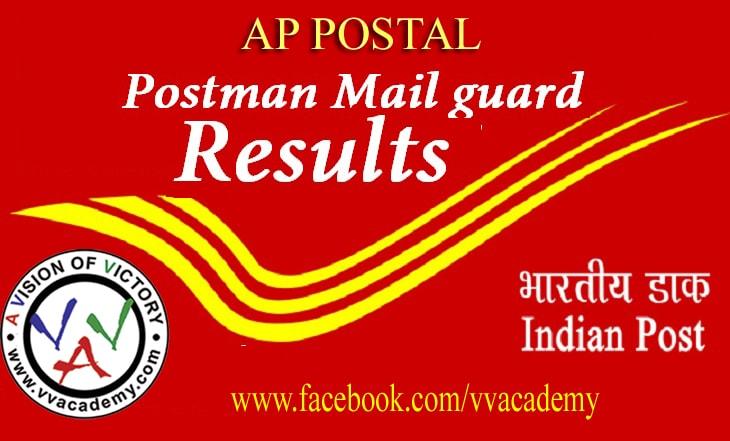 Andhra Pradesh Circle Postman/Mail Guard Examination Results
