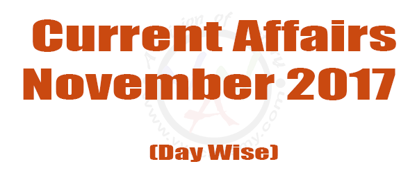 [:en]November 2017 – Current Affairs [:]